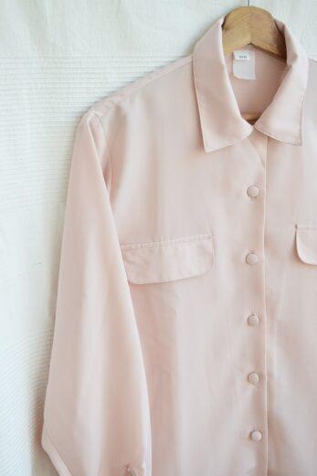 chemise rose poudre