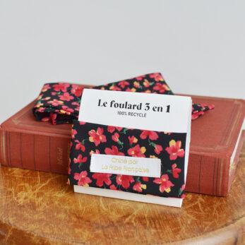 foulard fleuri 3 en 1