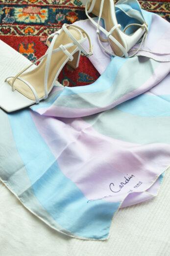 foulard en soie pierre cardin