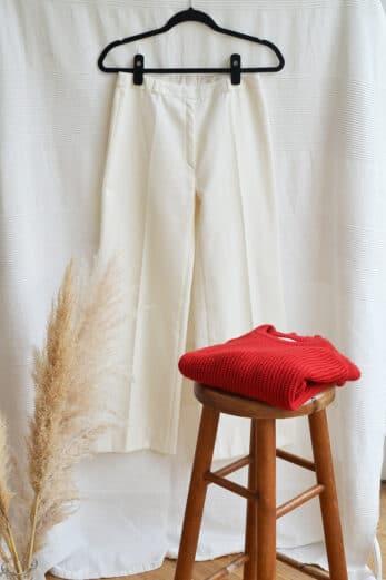 pantalon vintage blanc