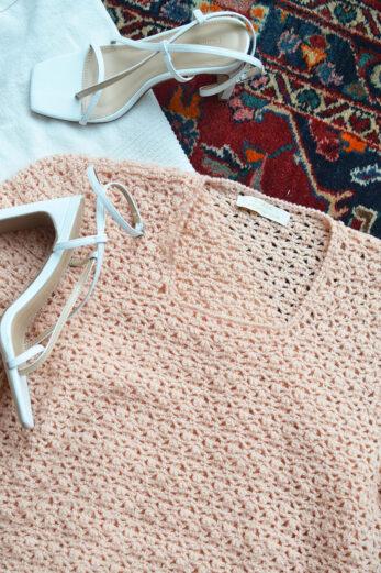 pull crochet rose