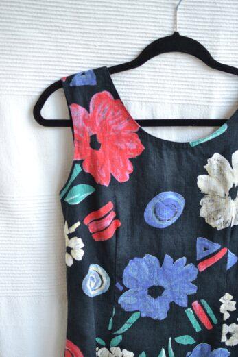 robe a fleurs vintage