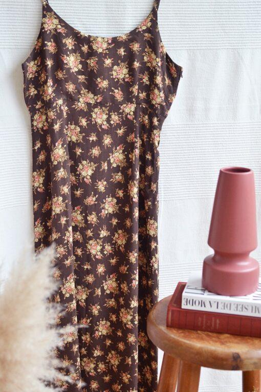 robe a fleurs fines bretelles