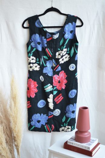 robe en lin fleurie