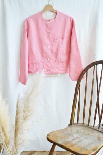 veste rose vintage