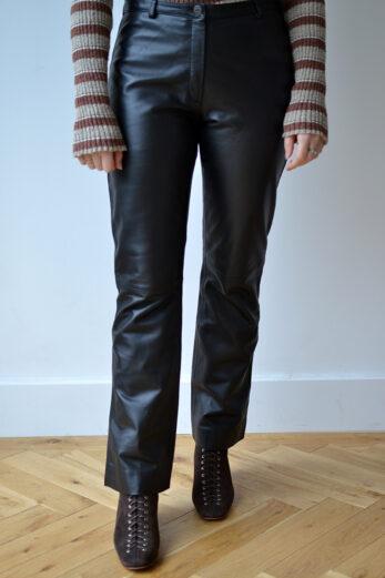 Pantalon En Cuir Vintage Pauline