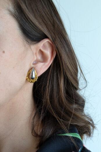boucles oreille blanche