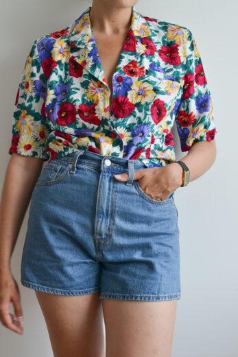 blouse fleurie vintage