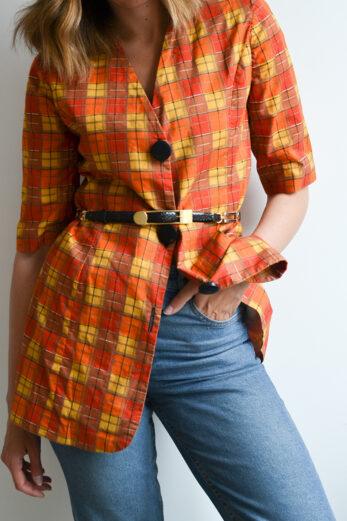 veste à carreaux vintage