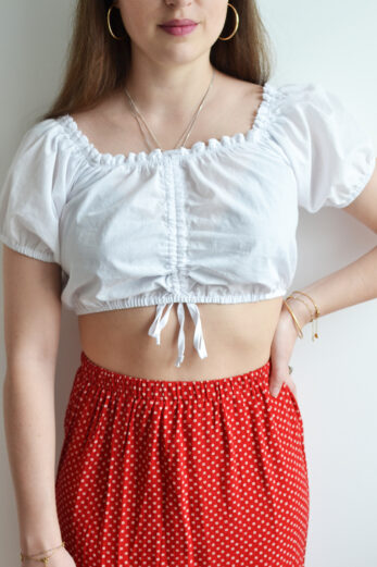 blouse vintage cropped
