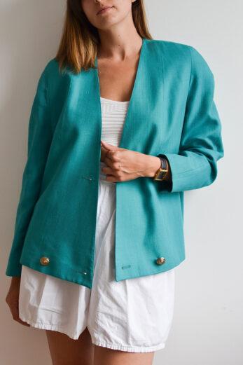 veste vintage turquoise